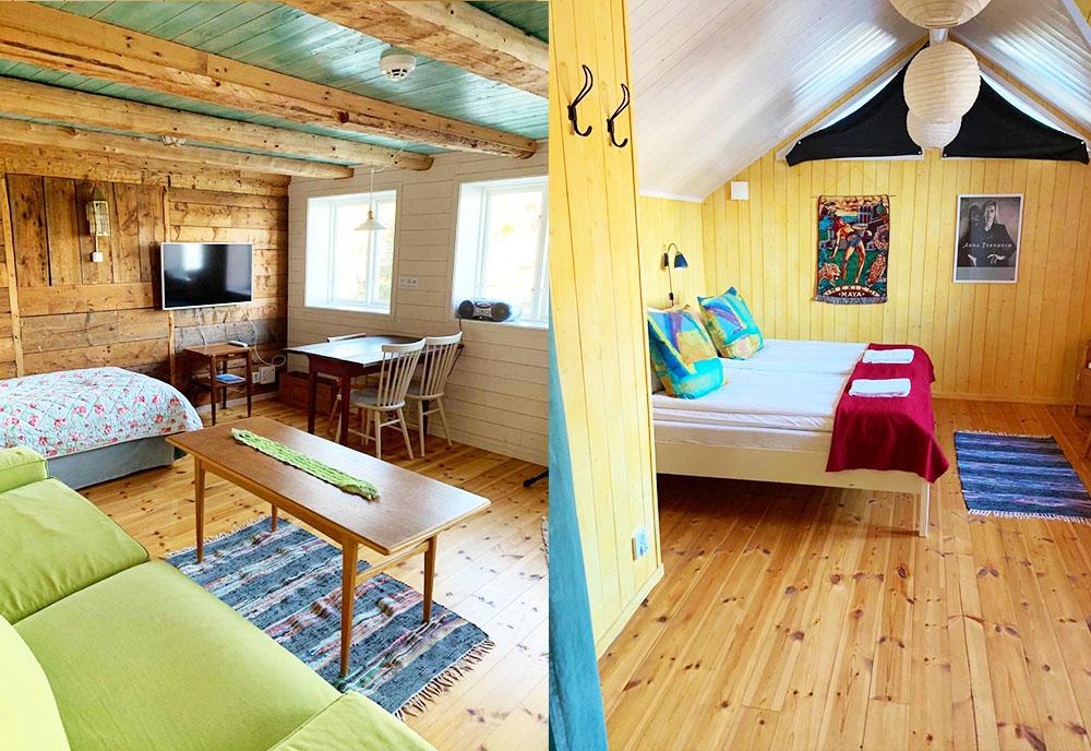 Vardagsrum och sovrum